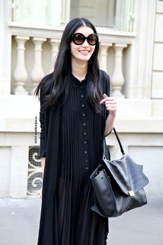 Ming Xi after Dior haute couture show 6106a90c454a2
