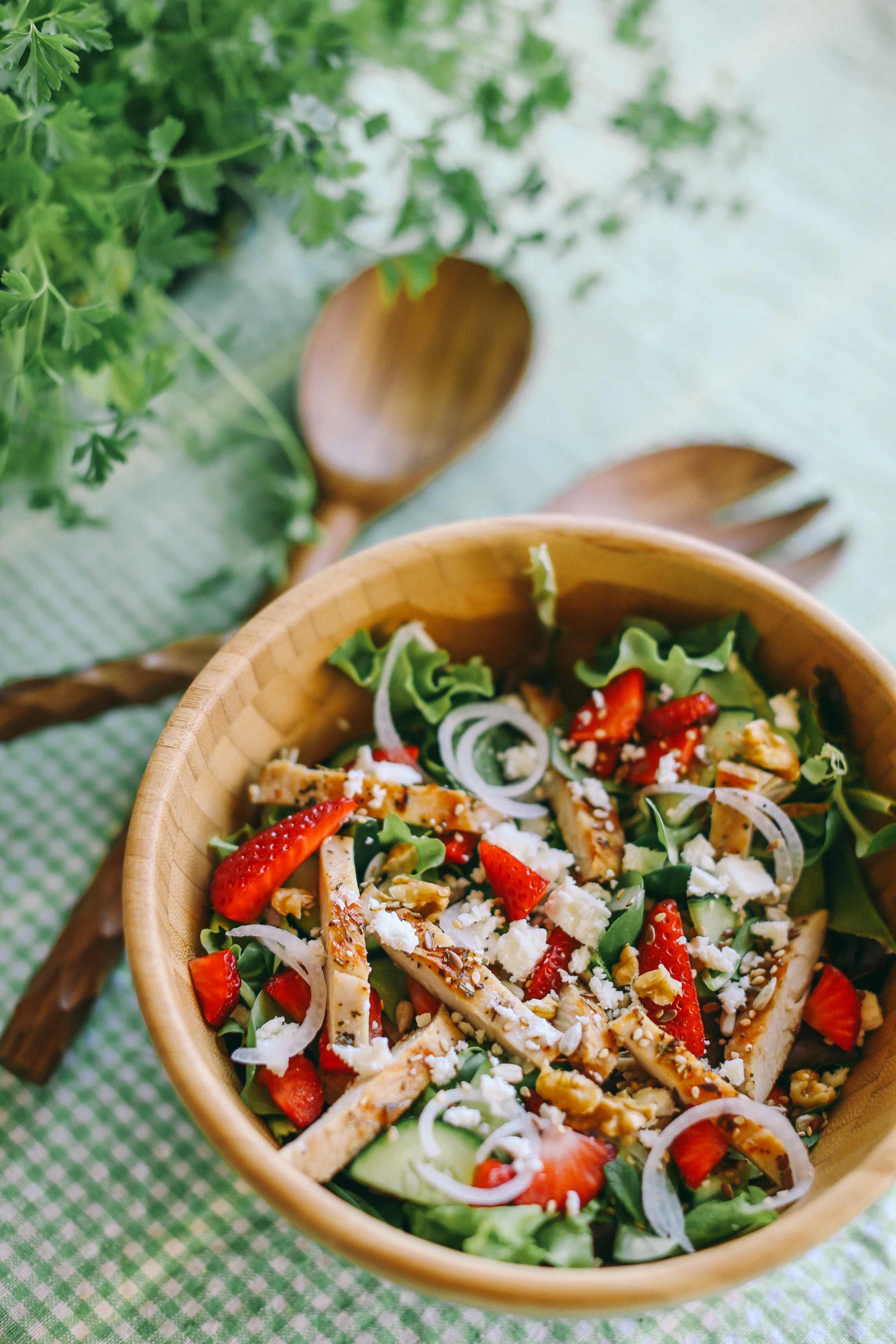 strawberry-mint-salad-recipe-summer